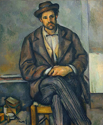 Seated Peasant Print by Paul Cezanne