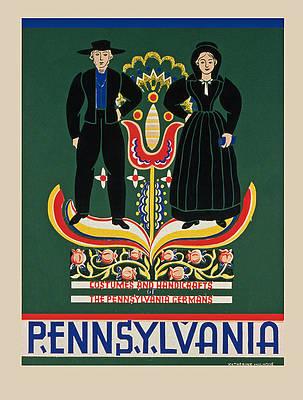 Rural Pennsylvania  Vintage German Art Print NEW POSTER
