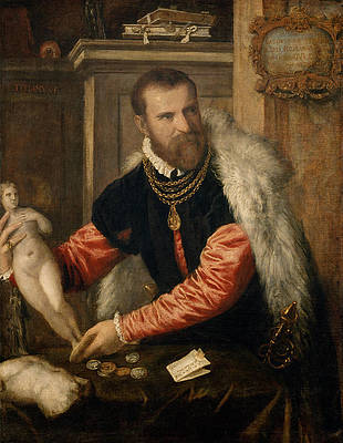 Jacopo Strada Print by Titian