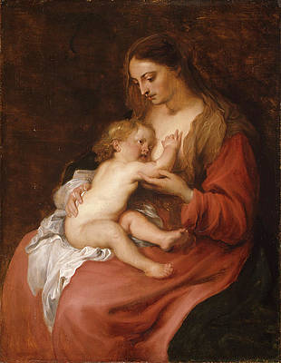 Virgin and Child Print by Anthony van Dyck