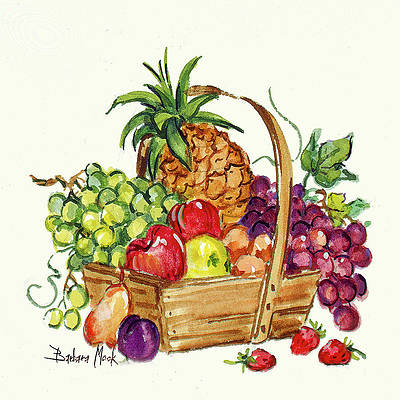 Fruit Basket Art Pixels