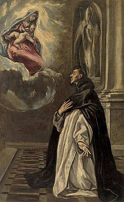 Apparition of the Virgin and Child to Saint Hyacinth Print by El Greco