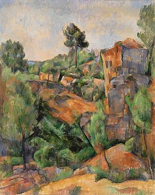 Bibemus Quarry Print by Paul Cezanne