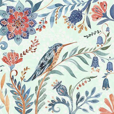 Birds And Flowers Paintings Fine Art America