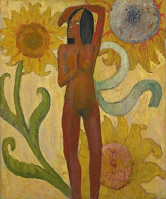 Caribbean Woman Print by Paul Gauguin