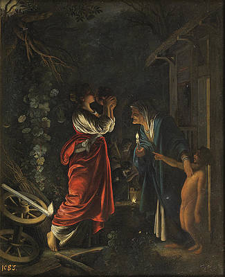 Ceres in the House of Hecuba Print by Adam Elsheimer and Workshop