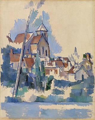 Church at Montigny-sur-Loing Print by Paul Cezanne