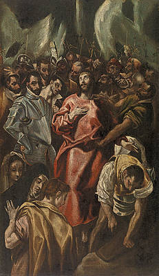 Disrobing of Christ Print by El Greco