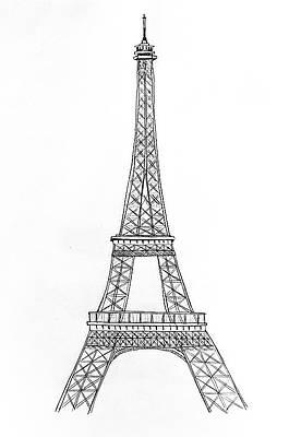 Paris Black And White Drawings Fine Art America
