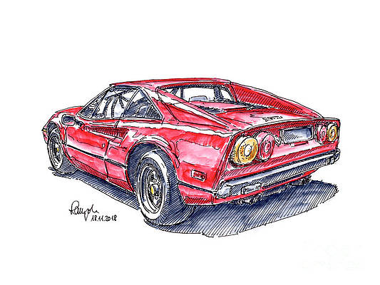 Ferrari Drawings Fine Art America