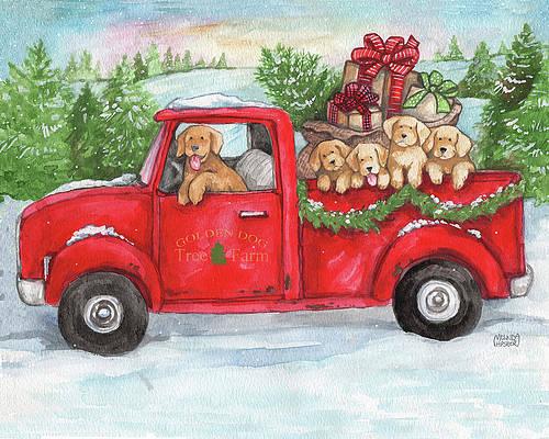 Christmas Truck Paintings Fine Art America