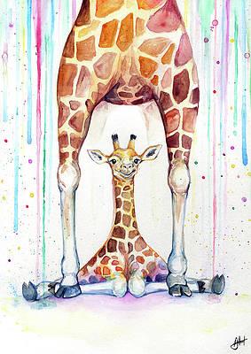 Giraffe Paintings Fine Art America