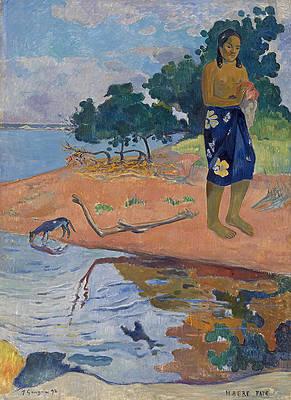 Haere Pape Print by Paul Gauguin