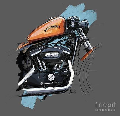 Vintage Harley Davidson Drawings Pixels,Design Your Own Cattle Brand