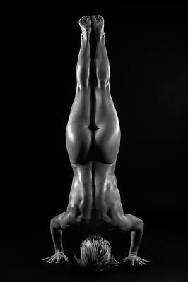 Naked Woman Handstand