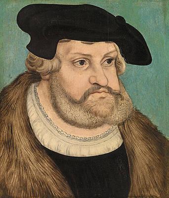 Portrait of Frederick the Wise, Duke of Saxony Print by Lucas Cranach the Elder