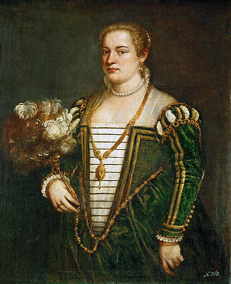 Portrait of the Artist's daughter Lavinia Print by Titian