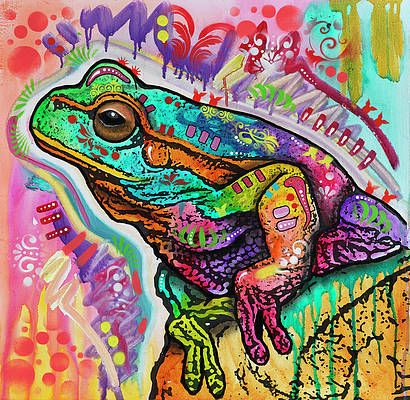 Colorful Frog Art Pixels