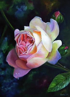 Print from Original Watercolor Painting by Doris Joa Eden Rose