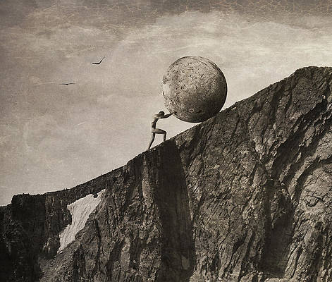 Gravity Wall Art - Photograph - Sisyphus by Jeffrey Hummel