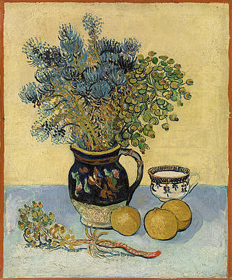 Still Life. Majolica with Wildflowers Print by Vincent van Gogh