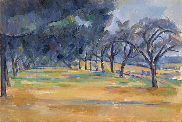 The Allee at Marines Print by Paul Cezanne