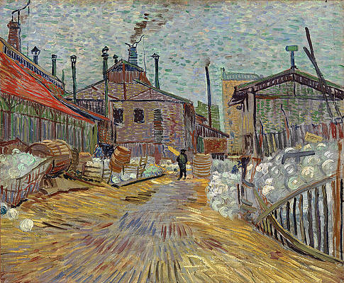 The Factory at Asnieres Print by Vincent van Gogh
