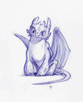 Toothless Drawings Fine Art America