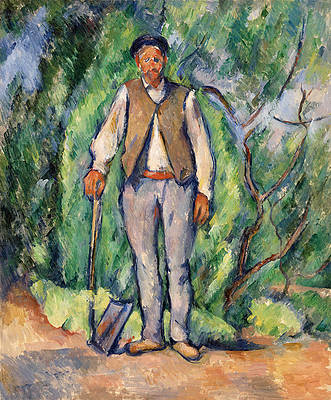 Gardener Print by Paul Cezanne