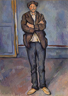Peasant Standing with Arms Crossed Print by Paul Cezanne