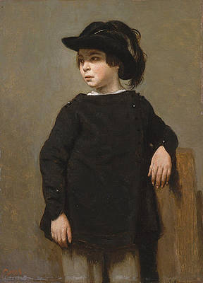 Portrait of a Child Print by Jean-Baptiste-Camille Corot