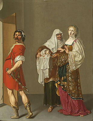 Salome with the Head of Saint John the Baptist Print by Jacob Duck