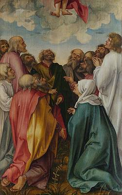 The Ascension of Christ Print by Hans von Kulmbach