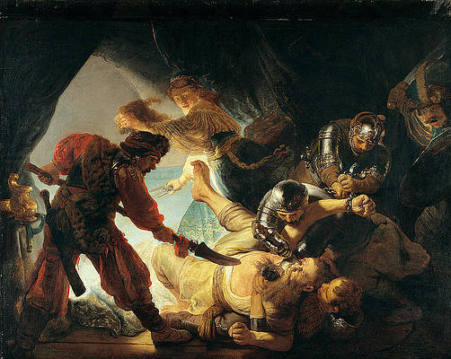The Blinding of Samson Print by Rembrandt