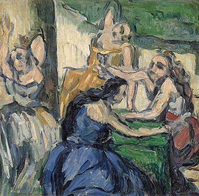 The Courtesans Print by Paul Cezanne
