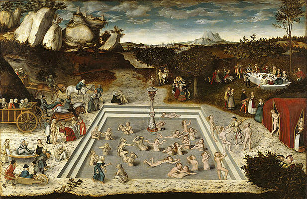The Fountain of Youth Print by Lucas Cranach the Elder