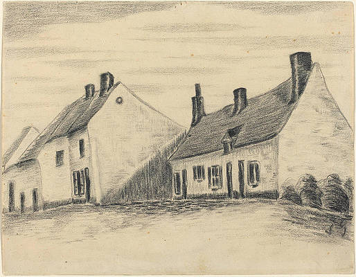 The Zandmennik House Print by Vincent van Gogh