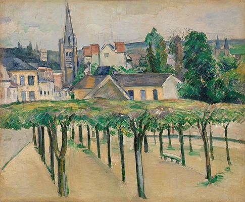 Village Square Print by Paul Cezanne