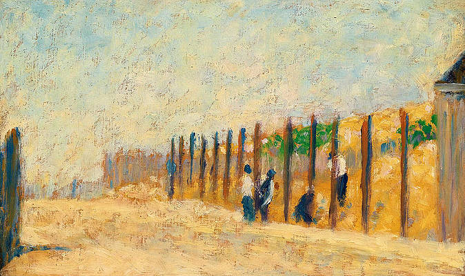 Workers Driving Piles Print by Georges Seurat
