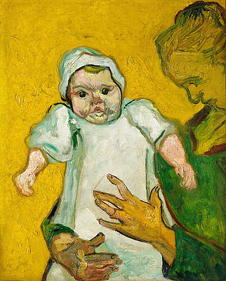 Madame Roulin and Her Baby Print by Vincent van Gogh