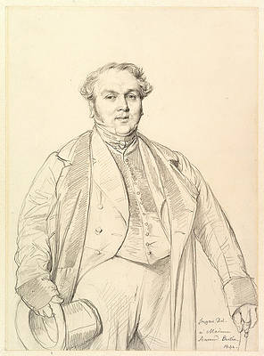 Armand Bertin Print by Jean-Auguste-Dominique Ingres