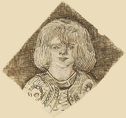 Head of a Girl Print by Vincent van Gogh