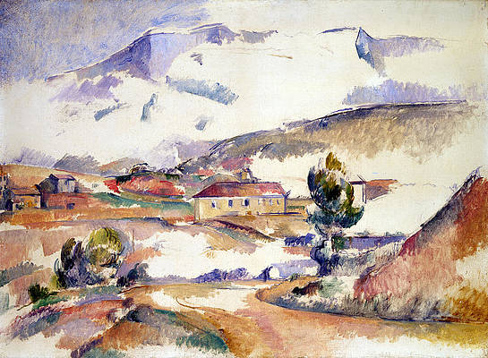 Montagne Sainte-Victoire, from near Gardanne Print by Paul Cezanne