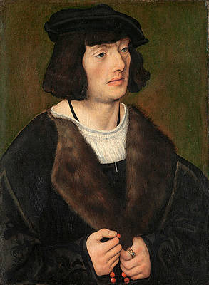 Portrait of a Man with a Rosary Print by Lucas Cranach the Elder