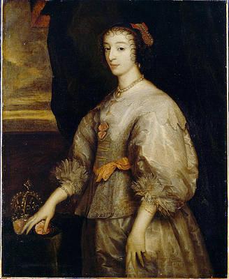 Queen Henrietta Maria Print by Anthony van Dyck