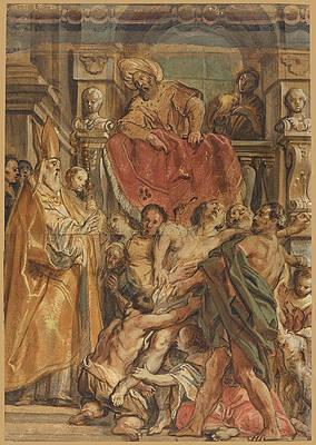 Saint Martin of Tours Healing the Servant of Tetrodius Print by Jacob Jordaens