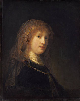 Saskia van Uylenburgh, the Wife of the Artist Print by Rembrandt