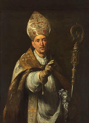 St. Gerardo Sagredo, Bishop of Csanad Print by Bernardo Strozzi
