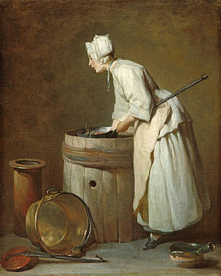 The Scullery Maid Print by Jean-Simeon Chardin