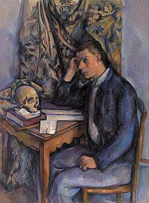 Young Man and Skull Print by Paul Cezanne